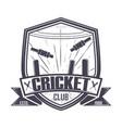 cricket championship club vector image vector image