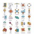 cryptocyrrency icons set cartoon style vector image