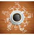 cup coffee with coffee drinks creative vector image