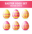 easter eggs icons easter eggs for easter holidays vector image