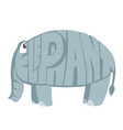 elephant cartoon animal in letters vector image