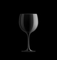 Empty wine glass vector image vector image