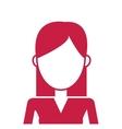 faceless woman icon vector image vector image