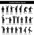 football soccer referees officials hand signals vector image vector image