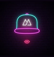 girl with baseball cap neon sign bright neon vector image vector image