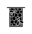 honeycomb frame black glyph icon vector image