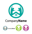 house logo design template vector image vector image