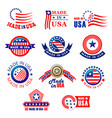 icon bagdes made in usa vector image