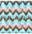 Ikat geometric seamless pattern rose and blue vector image vector image