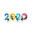 inscription 2020 new year in office vector image vector image