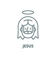 jesus line icon linear concept outline vector image vector image