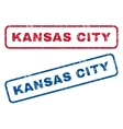 Kansas City Rubber Stamps vector image vector image