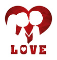 Love digital design vector image
