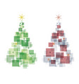 magical abstract christmas trees vector image vector image