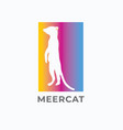meercat logo vector image