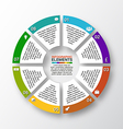 modern business options banner circle vector image vector image