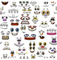 monster faces seamless vector image vector image