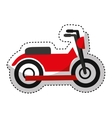 motorcycle vehicle isolated icon vector image vector image