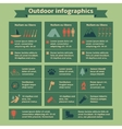 Outdoor Travel Infographic Elements vector image vector image