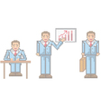 Pixel businessman vector image