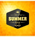 Retro styled summer calligraphic design card vector image
