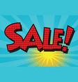 sale pop art retro comic book lettering vector image vector image