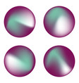 set holographic circles vector image vector image