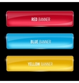 Set of glass yellow red and blue banners vector image vector image