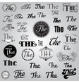 set of monochrome Catchword in retro style vector image vector image