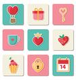 Set of Valentine icons vector image