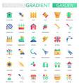 set trendy flat gradient garden icons vector image vector image