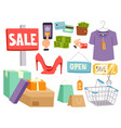 shopping supermarket store shop grocery vector image
