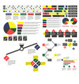 simple multi-colored infographics with different vector image vector image