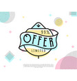 special offer sale tag vector image vector image