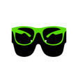 sunglasses sign green 3d vector image vector image