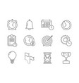 time management icons reminder business project vector image