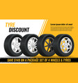 tires discount realistic black rubber tyre vector image vector image