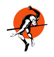 Track and Field Athlete Jumping High Jump vector image vector image