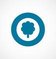 tree bold blue border circle icon vector image vector image