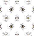 trendy white hipster abstract eye pattern vector image