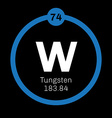 Tungsten chemical element vector image vector image