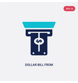 two color dollar bill from cash machine icon from vector image vector image