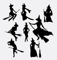 witch halloween event silhouette vector image vector image