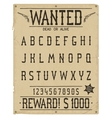 Western style font vector image