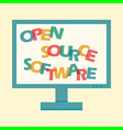 open source software letters vector image