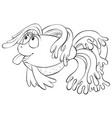 a children coloring bookpage cartoon fish image vector image