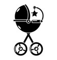 baby carriage star icon simple black style vector image vector image