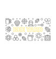 bee yard outline horizontal banner or vector image vector image