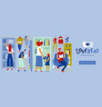 book store people flat vector image vector image
