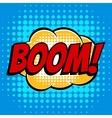 Boom comic book bubble text retro style vector image vector image